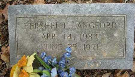 LANGFORD, HERSHEL L - Logan County, Arkansas | HERSHEL L LANGFORD - Arkansas Gravestone Photos