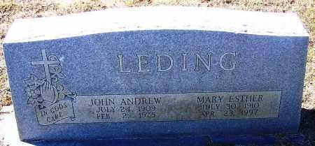 LEDING, MARY ESTHER - Logan County, Arkansas | MARY ESTHER LEDING - Arkansas Gravestone Photos