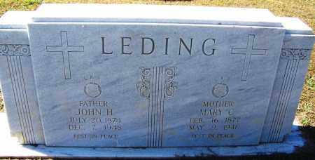 LEDING, JOHN H - Logan County, Arkansas | JOHN H LEDING - Arkansas Gravestone Photos