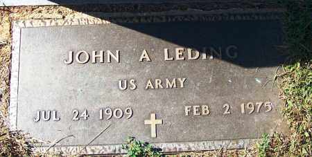 LEDING (VETERAN), JOHN A - Logan County, Arkansas | JOHN A LEDING (VETERAN) - Arkansas Gravestone Photos