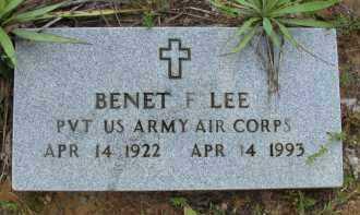 LEE (VETERAN), BENET F - Logan County, Arkansas   BENET F LEE (VETERAN) - Arkansas Gravestone Photos