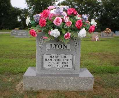 HAMPTON LYON, MARY LOU - Logan County, Arkansas   MARY LOU HAMPTON LYON - Arkansas Gravestone Photos