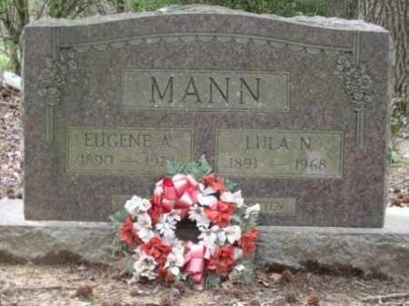 MANN, EUGENE A - Logan County, Arkansas | EUGENE A MANN - Arkansas Gravestone Photos