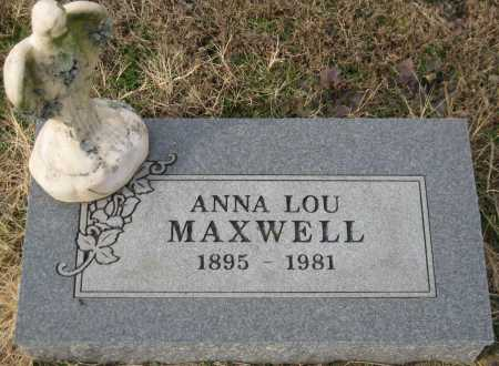MAXWELL, ANNA LOU - Logan County, Arkansas   ANNA LOU MAXWELL - Arkansas Gravestone Photos