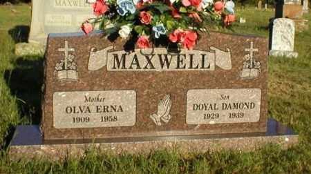 MAXWELL, OLVA ERNA - Logan County, Arkansas   OLVA ERNA MAXWELL - Arkansas Gravestone Photos