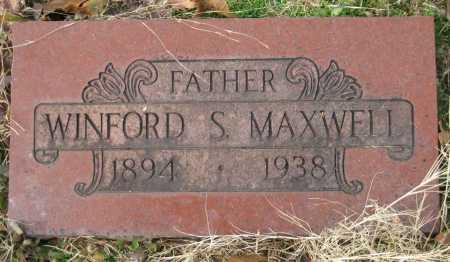 MAXWELL, WINFORD S. - Logan County, Arkansas | WINFORD S. MAXWELL - Arkansas Gravestone Photos