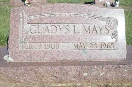 MAYS, GLADYS L. - Logan County, Arkansas | GLADYS L. MAYS - Arkansas Gravestone Photos