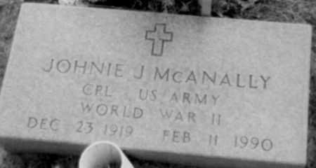MCANALLY (VETERAN WWII), JOHNIE - Logan County, Arkansas   JOHNIE MCANALLY (VETERAN WWII) - Arkansas Gravestone Photos