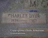 MCCASLIN, CHARLES DYER (CLOSEUP) - Logan County, Arkansas | CHARLES DYER (CLOSEUP) MCCASLIN - Arkansas Gravestone Photos