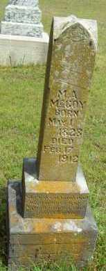 MCCOY, M.A. - Logan County, Arkansas | M.A. MCCOY - Arkansas Gravestone Photos