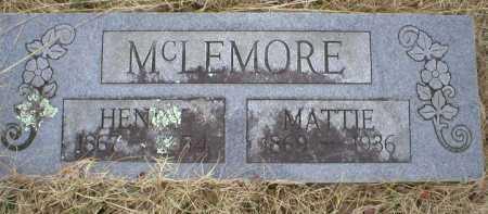 MCLEMORE, MATTIE - Logan County, Arkansas | MATTIE MCLEMORE - Arkansas Gravestone Photos