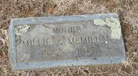 MCMILLAN, MILLIE A - Logan County, Arkansas | MILLIE A MCMILLAN - Arkansas Gravestone Photos