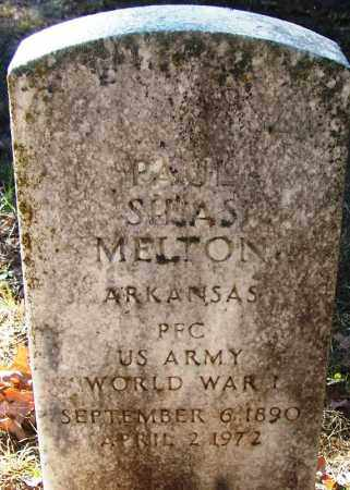 MELTON (VETERAN WWI), PAUL SILAS - Logan County, Arkansas   PAUL SILAS MELTON (VETERAN WWI) - Arkansas Gravestone Photos