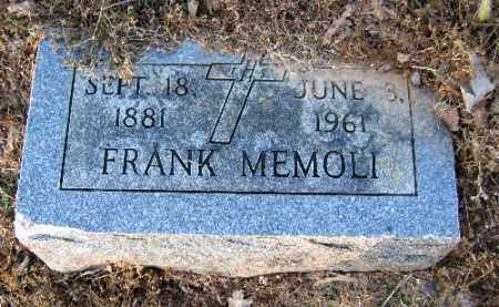 MEMOLI, FRANK - Logan County, Arkansas | FRANK MEMOLI - Arkansas Gravestone Photos