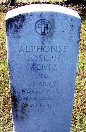 MERTZ (VETERAN WWI), ALPHONSE JOSEPH - Logan County, Arkansas   ALPHONSE JOSEPH MERTZ (VETERAN WWI) - Arkansas Gravestone Photos
