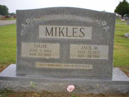 MIKLES, SALLIE - Logan County, Arkansas   SALLIE MIKLES - Arkansas Gravestone Photos