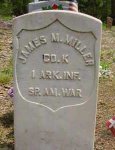 MILLER ((VETERAN SAW), JAMES M - Logan County, Arkansas   JAMES M MILLER ((VETERAN SAW) - Arkansas Gravestone Photos