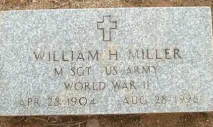 MILLER (VETERAN WWII), WILLIAM H - Logan County, Arkansas   WILLIAM H MILLER (VETERAN WWII) - Arkansas Gravestone Photos