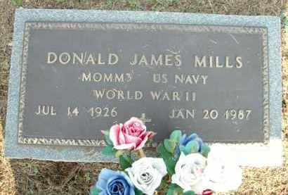 MILLS (VETERAN WWII), DONALD JAMES - Logan County, Arkansas | DONALD JAMES MILLS (VETERAN WWII) - Arkansas Gravestone Photos
