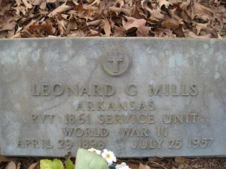 MILLS (VETERAN WWII), LEONARD G - Logan County, Arkansas | LEONARD G MILLS (VETERAN WWII) - Arkansas Gravestone Photos