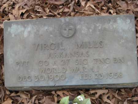 MILLS (VETERAN WWII), VIRGIL - Logan County, Arkansas   VIRGIL MILLS (VETERAN WWII) - Arkansas Gravestone Photos