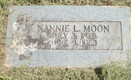 MOON, NANNIE L - Logan County, Arkansas   NANNIE L MOON - Arkansas Gravestone Photos