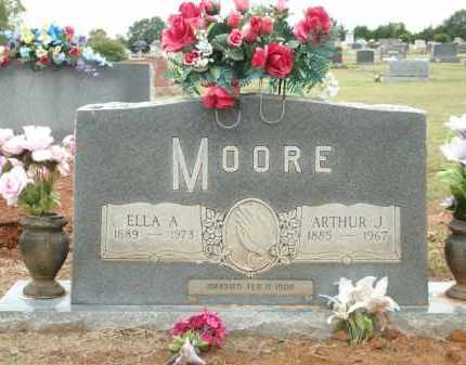 MOORE, ELLA A. - Logan County, Arkansas | ELLA A. MOORE - Arkansas Gravestone Photos