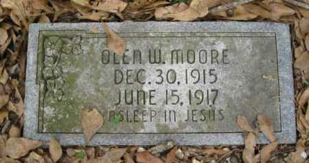 MOORE, OLEN W - Logan County, Arkansas | OLEN W MOORE - Arkansas Gravestone Photos