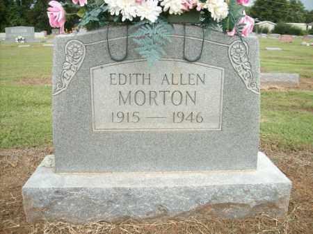MORTON, EDITH ALLEN - Logan County, Arkansas | EDITH ALLEN MORTON - Arkansas Gravestone Photos