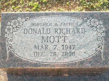MOTT, DONALD RICHARD - Logan County, Arkansas   DONALD RICHARD MOTT - Arkansas Gravestone Photos