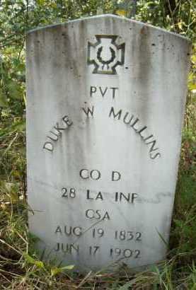 MULLINS (VETERAN CSA), DUKE W. - Logan County, Arkansas   DUKE W. MULLINS (VETERAN CSA) - Arkansas Gravestone Photos