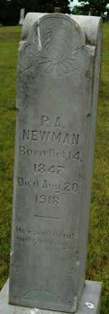 NEWMAN, P.A. - Logan County, Arkansas   P.A. NEWMAN - Arkansas Gravestone Photos