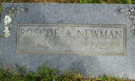 NEWMAN, ROSCOE A. - Logan County, Arkansas | ROSCOE A. NEWMAN - Arkansas Gravestone Photos