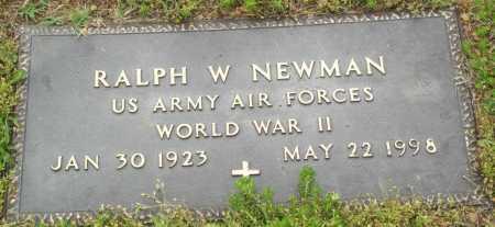 NEWMAN (VETERAN WWII), RALPH W - Logan County, Arkansas | RALPH W NEWMAN (VETERAN WWII) - Arkansas Gravestone Photos