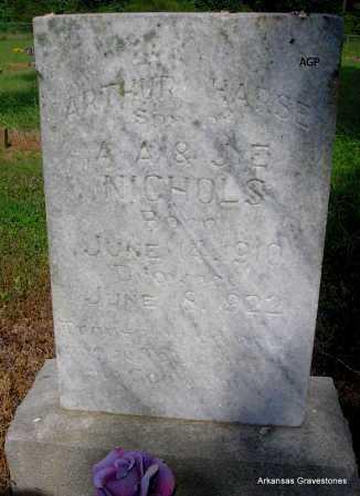 NICHOLS, ARTHUR  HARSE - Logan County, Arkansas | ARTHUR  HARSE NICHOLS - Arkansas Gravestone Photos