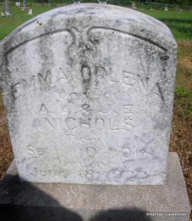 NICHOLS, EMMA  ORLENA - Logan County, Arkansas   EMMA  ORLENA NICHOLS - Arkansas Gravestone Photos