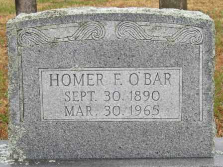 O'BAR, HOMER F. - Logan County, Arkansas   HOMER F. O'BAR - Arkansas Gravestone Photos