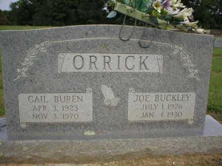 ORRICK, JOE BUCKLEY - Logan County, Arkansas | JOE BUCKLEY ORRICK - Arkansas Gravestone Photos