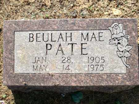 PATE, BEULAH MAE - Logan County, Arkansas   BEULAH MAE PATE - Arkansas Gravestone Photos