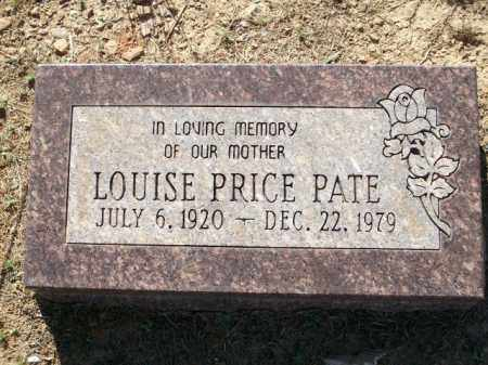 PATE, LOUISE PRICE - Logan County, Arkansas   LOUISE PRICE PATE - Arkansas Gravestone Photos