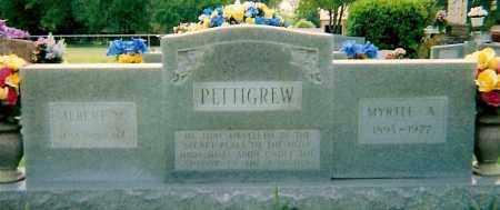 PETTIGREW, MYRTLE A - Logan County, Arkansas | MYRTLE A PETTIGREW - Arkansas Gravestone Photos