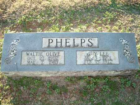 PHELPS, WALTIE OLIVE - Logan County, Arkansas | WALTIE OLIVE PHELPS - Arkansas Gravestone Photos