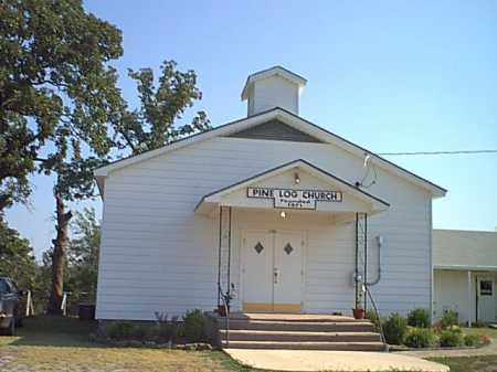 *PINE LOG CHURCH,  - Logan County, Arkansas |  *PINE LOG CHURCH - Arkansas Gravestone Photos
