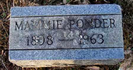 PONDER, MAMMIE - Logan County, Arkansas | MAMMIE PONDER - Arkansas Gravestone Photos