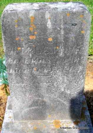 POPE, BURTON - Logan County, Arkansas   BURTON POPE - Arkansas Gravestone Photos