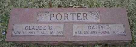 PORTER, CLAUDE C - Logan County, Arkansas | CLAUDE C PORTER - Arkansas Gravestone Photos