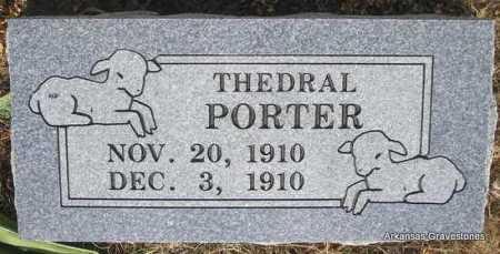 PORTER, THEDRAL - Logan County, Arkansas | THEDRAL PORTER - Arkansas Gravestone Photos