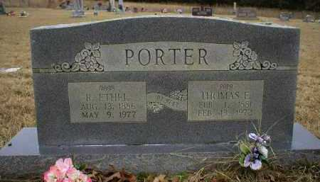 PORTER, R. ETHEL - Logan County, Arkansas | R. ETHEL PORTER - Arkansas Gravestone Photos