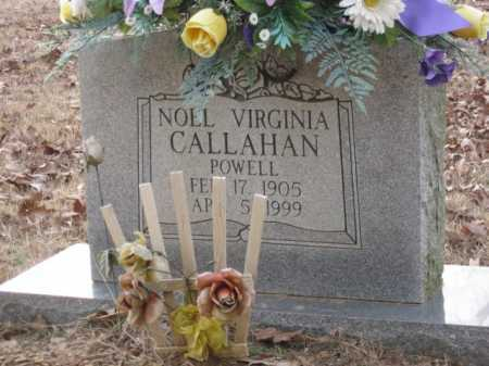 CALLAHAN POWELL, NOEL VIRGINIA - Logan County, Arkansas | NOEL VIRGINIA CALLAHAN POWELL - Arkansas Gravestone Photos