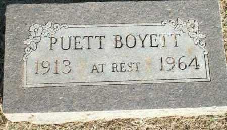 PUETT, BOYETT - Logan County, Arkansas   BOYETT PUETT - Arkansas Gravestone Photos